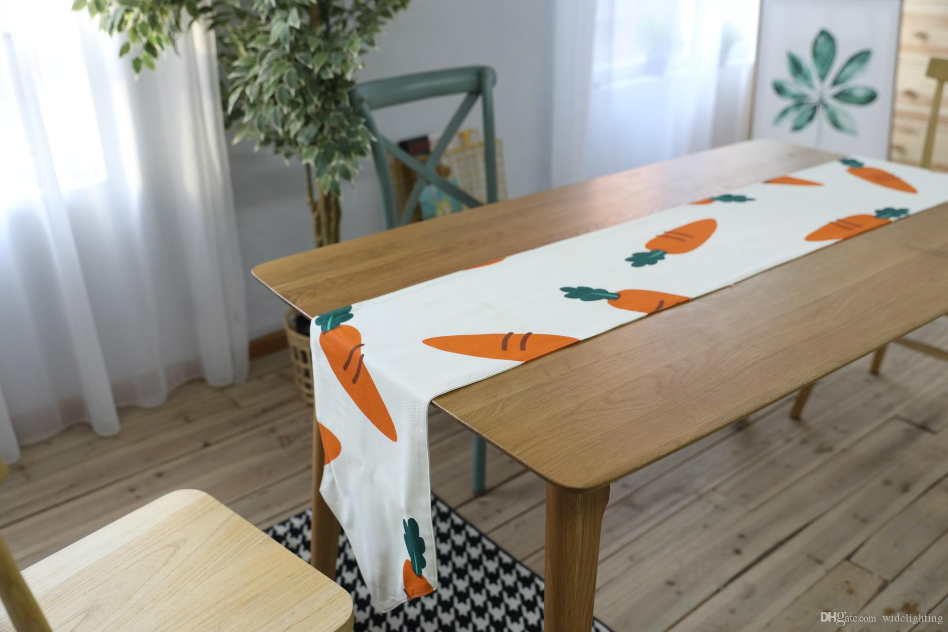 European And American Hmoe Style Coffee Table Cloth Carrot