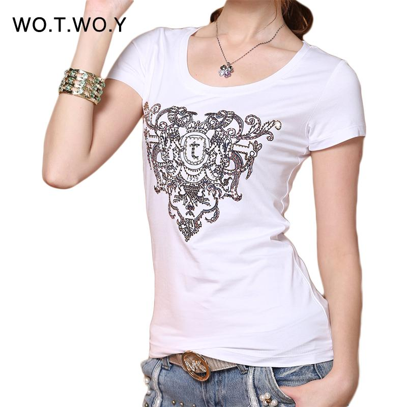 Wholesale 2016 high quality brand t shirt women slim for Cheap branded t shirts online