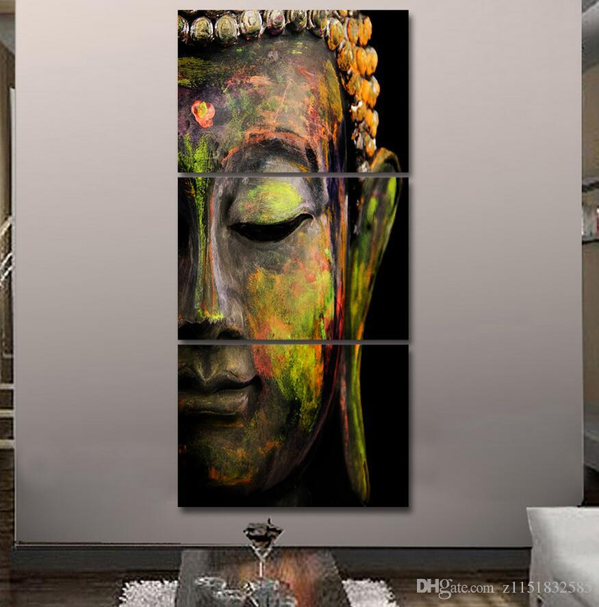 hd printed canvas wall art buddha meditation painting buddha statue wall art canvas prints life figure abstract online with 2623set on