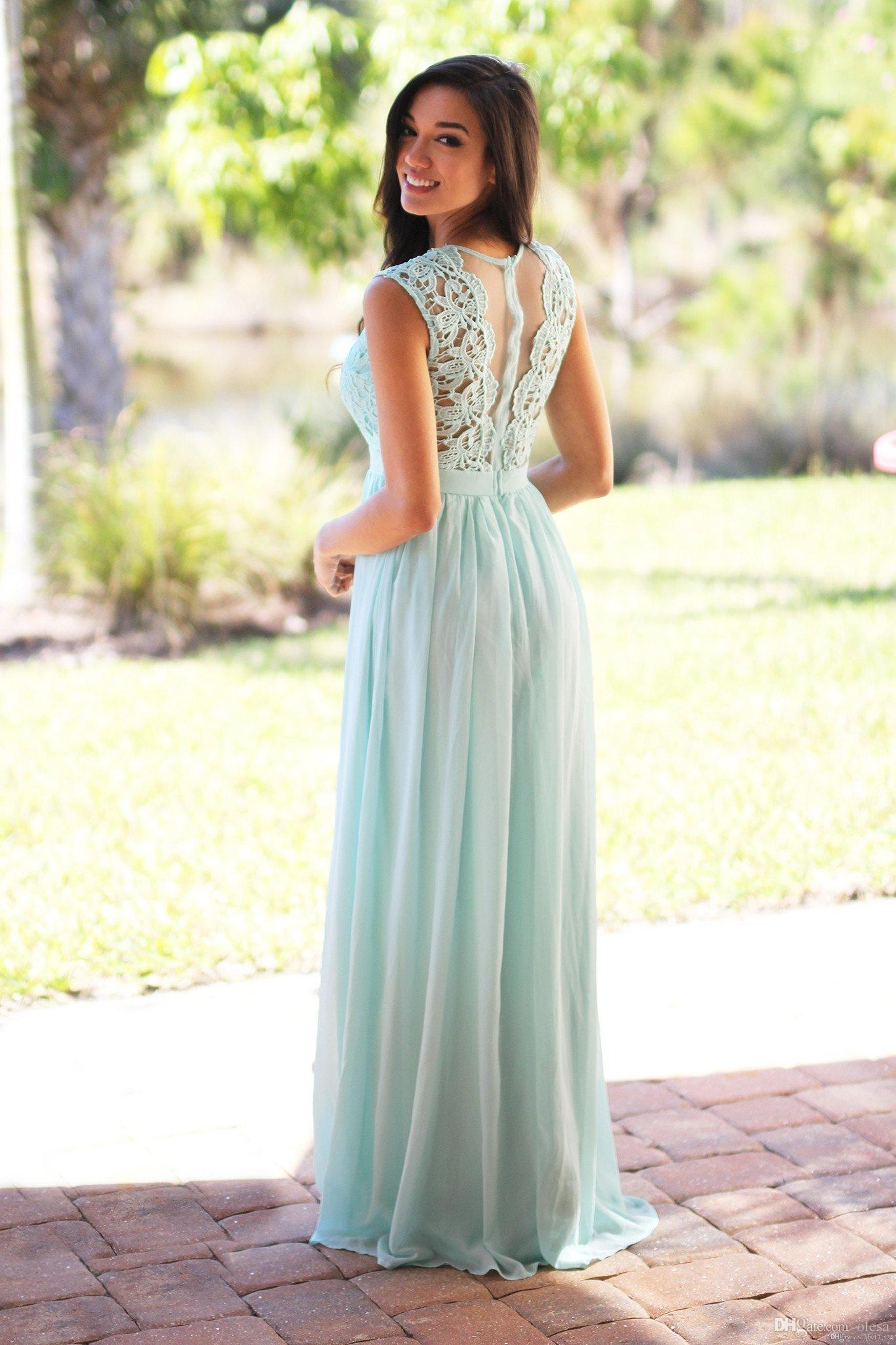 Mint blue bridesmaid dresses 2017 lace top a line long chiffon mint blue bridesmaid dresses 2017 lace top a line long chiffon maid of honor gowns boho cheap wedding party dress be96 bridesmaid dress online with ombrellifo Gallery