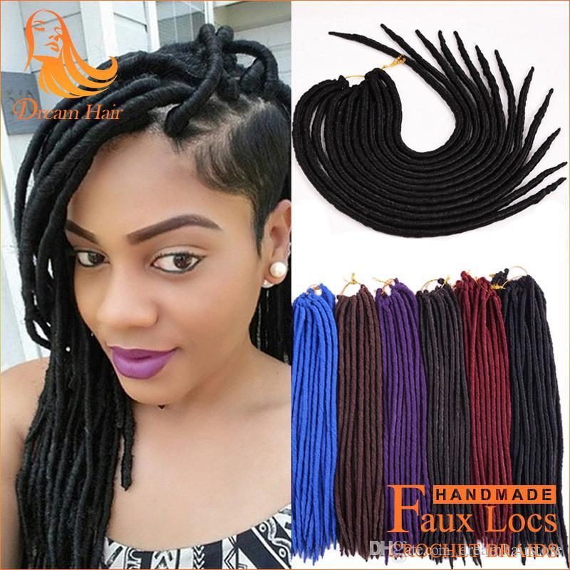 Incredible 2017 14 18 Inch Faux Locs Crochet Hair Mambo Braids Fauxlocs Soft Short Hairstyles For Black Women Fulllsitofus