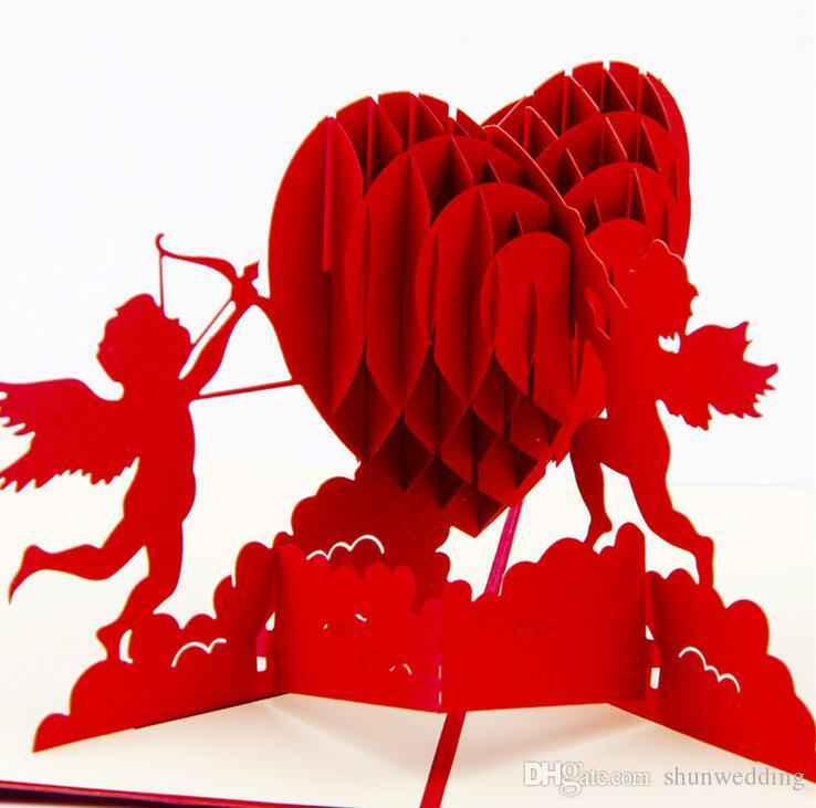 3D Pop Up Wedding Invitation Postcards Gift Cards Laser Cut Heart – Wedding Gift Cards Online