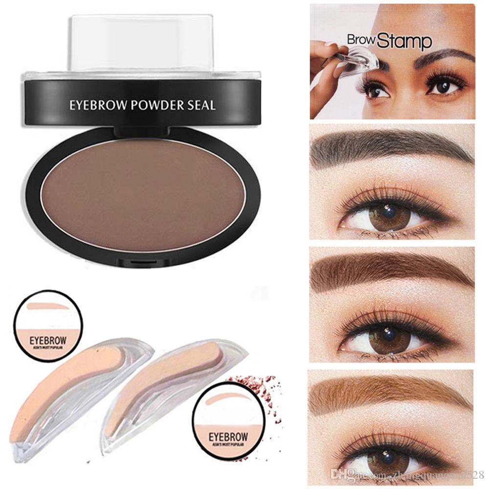 Fashion Hot Sale Natural Eyebrow Powder Maquillage Brow Stamp Palette Delicated