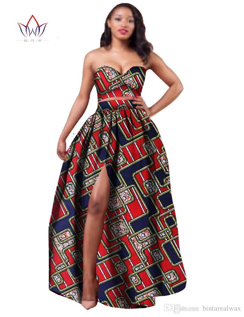2017 African Clothes Dashiki for Women Bazin Riche Crop ...