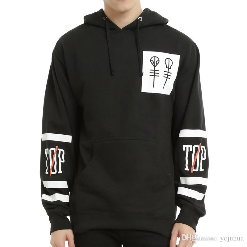 New Arrival Black Pullover Hoodies Twenty One Pilots Hoodie ...