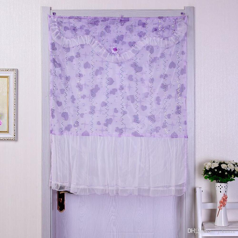 Shower curtains for girls - 1pcs Korean Style Cartoon Lace Curtain With Flower For Girl Bedroon Living Roon Kitchen Door Decoration