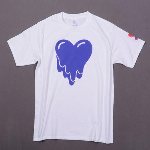 New Design T Shirt Melting Heart Print White T Shirts Short Sleeve