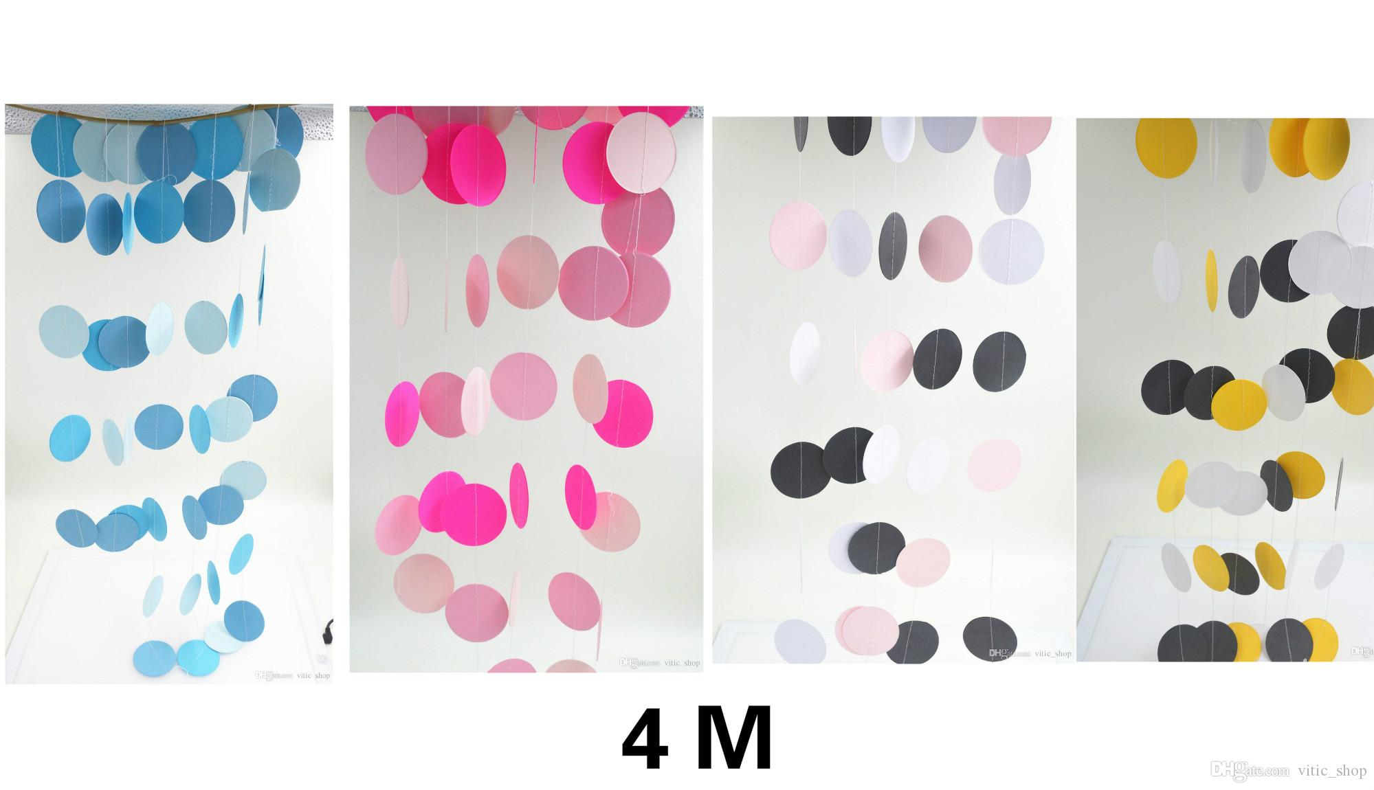 new arrived 4m long round cardboard colorful paper rainbow wedding