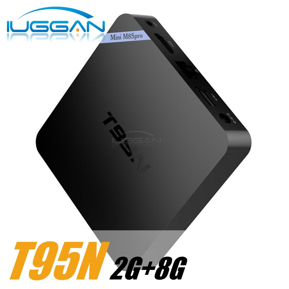 T95N Mini M8S Pro m8spro Android 6.0 TV Box S905x Quad Core kd16.1 2G 8G Smart S
