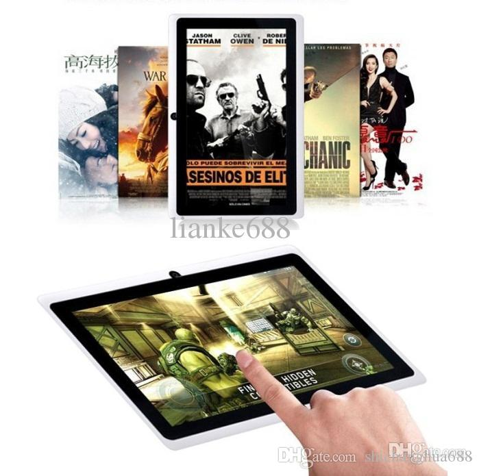 Stock US / UK / CHINA! IRULU Q88 7 pouces Android 4.4 tablette PC A33 Quade Core