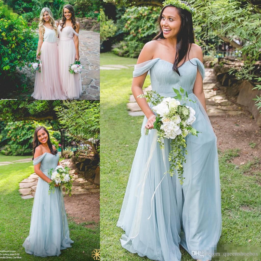 2017 cheap new designer beach bohemian bridesmaid dresses off the 2017 cheap new designer beach bohemian bridesmaid dresses off the shoulder pleated a line maid of honor party gown sage cheap for sale 2017 bridesmaid dress ombrellifo Gallery