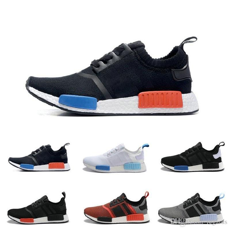 Adidas NMD R1 PK PrimeKnit TriColor White Black Blue Red BB2888