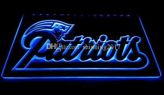 LS861-b-New-England-Patriots-Soccer-Neon-Light Decor Livraison gratuite Dropship