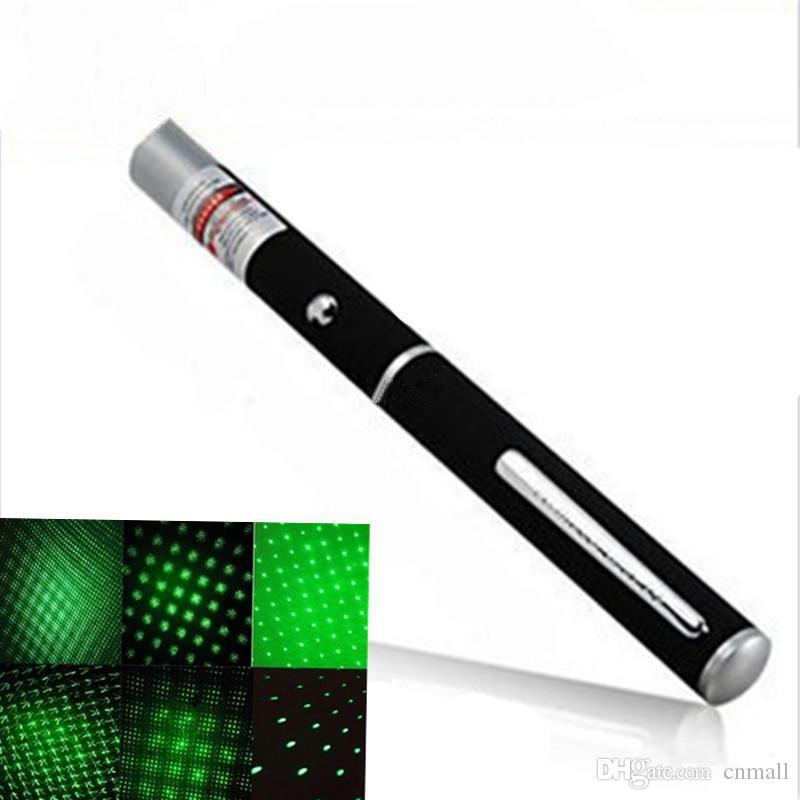 2in1 Star Cap Pattern 532nm 5mw Green Pointer Pen Star Head Laser Kaleidoscope Light 5mw Laser Pen LED Laser Pointers Green Light Hot