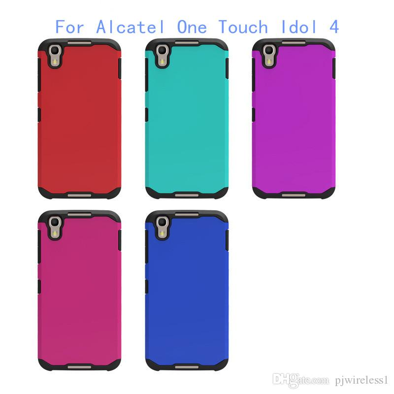 Armor case for alcatel one touch idol 4 phone hybrid hard plastic tpu case for motorola moto z - Fundas alcatel one touch idol ...