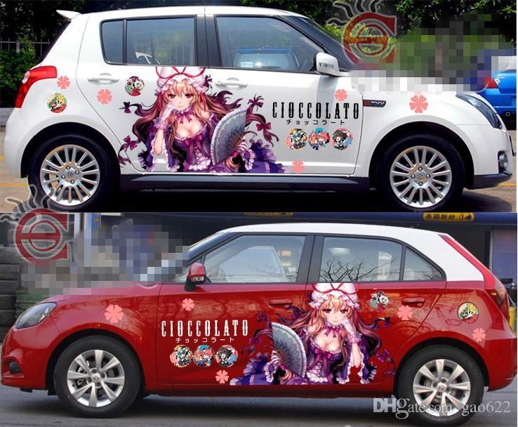 New Hot Anime Car Stickers Anime Stickers Yakumo Yukari Car - Car anime stickers