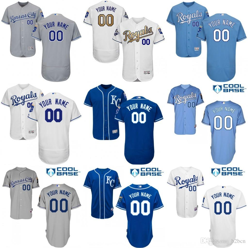 2016 Flexbase Custom Hommes Kansas City Royals Collection authentique Majestic b