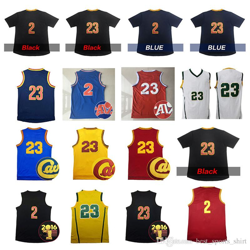 LeBron James 23 # Basketball Jersey 2 Kyrie Irving avec chemises à manches court
