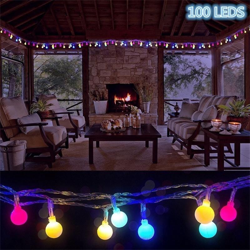 100 Led Globe String Lights Ball Christmas Lights Indoor Outdoor Decorative Light Usb Powered 39 Ft Warm White Light Tree Wedding 100 Led Globe String
