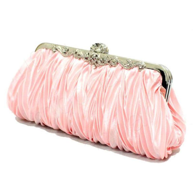 Wholesale Fashion Party Club Clutch Bag Satin Pleated Ruched Wallet Purse Ladies Bridal Evening ...