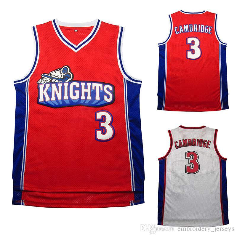 Like Mike Movie version Kevin jersey # 3, Kevin Basketball jerseys Broderie Logo