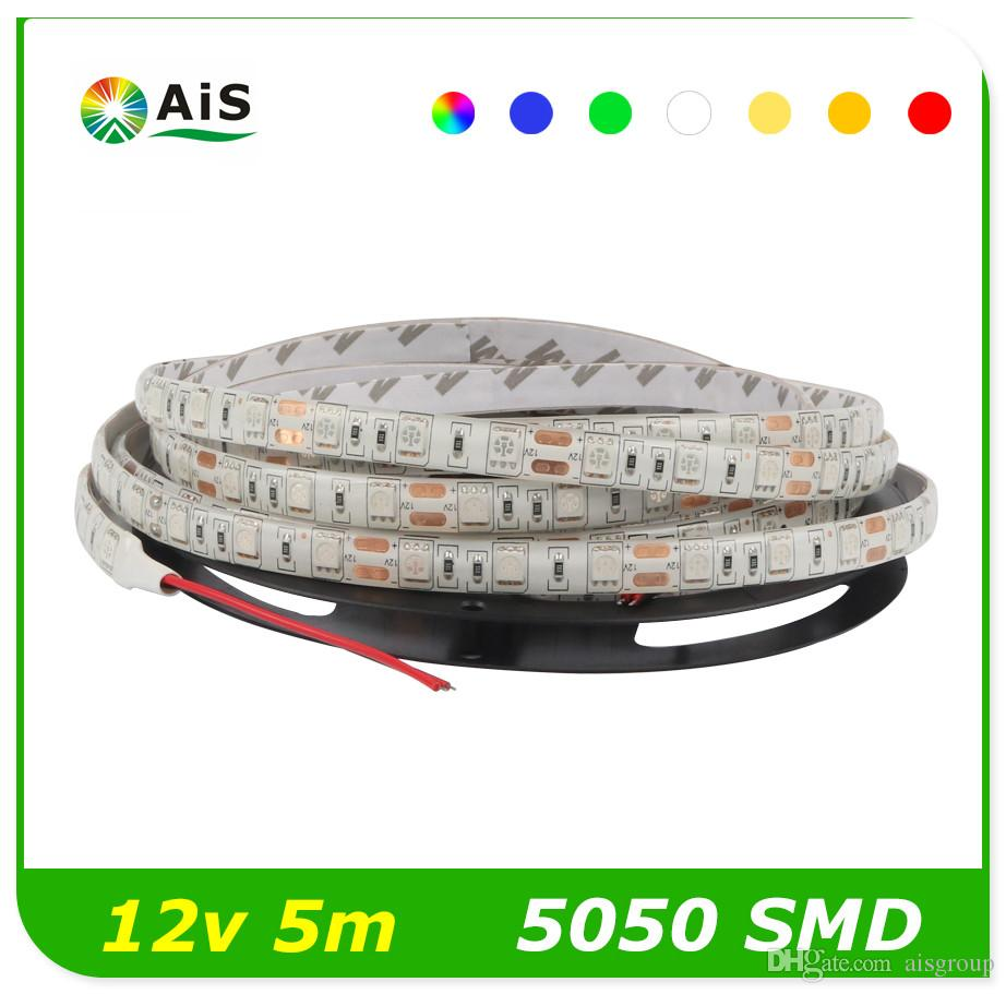 5m led strip 5050smd ip65 waterproof 60led m dc12v. Black Bedroom Furniture Sets. Home Design Ideas