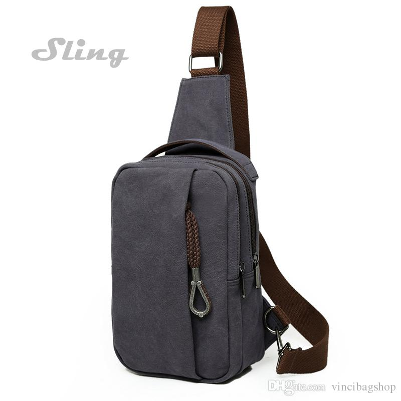Men's Sling Bag Everyday Adventure Bag Canvas Crossbody Single ...