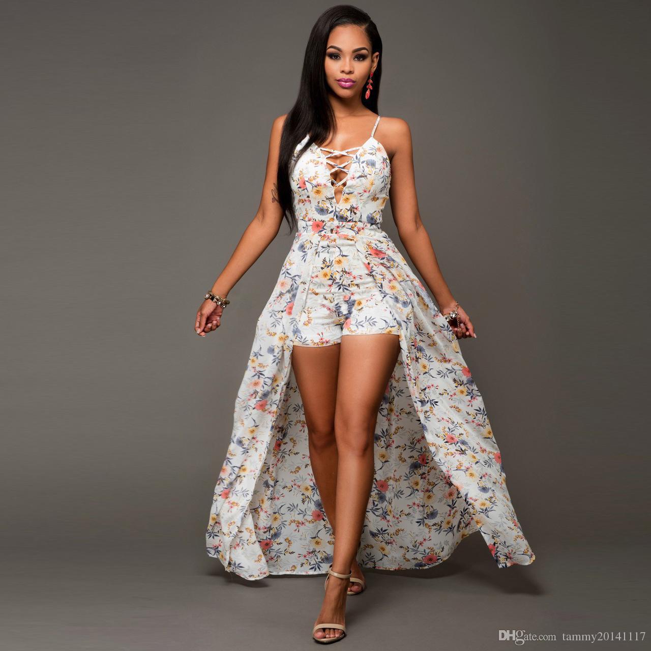 Maxi dress romper