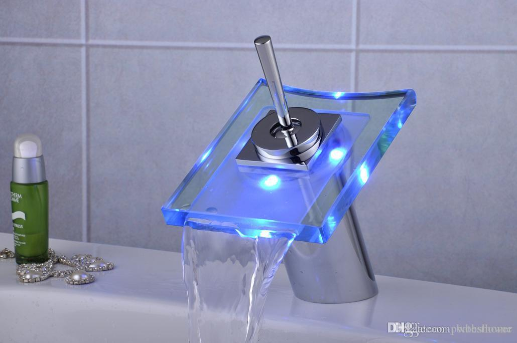 Bathroom Faucet Light led light washbasin faucet hotel bathroom taps basin faucet light