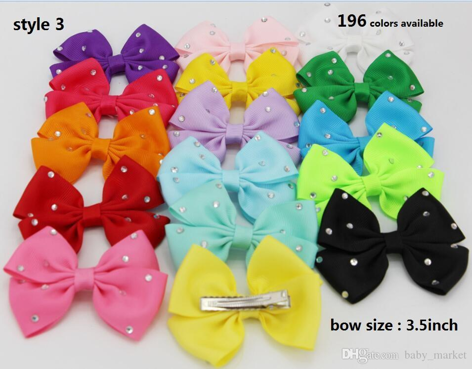 Style 4 disponible! 3.5inch Baby Girl Infant Hairband Cheveux Rubans Headbands C