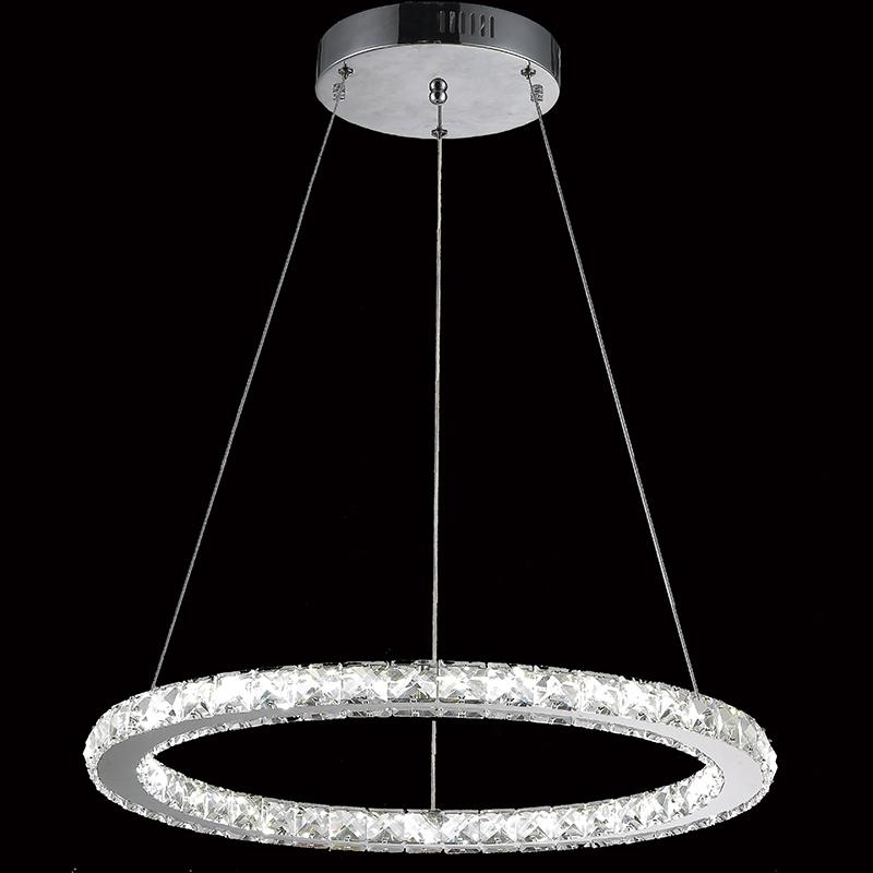 vallkin round ring led crystal pendant light ceiling. Black Bedroom Furniture Sets. Home Design Ideas
