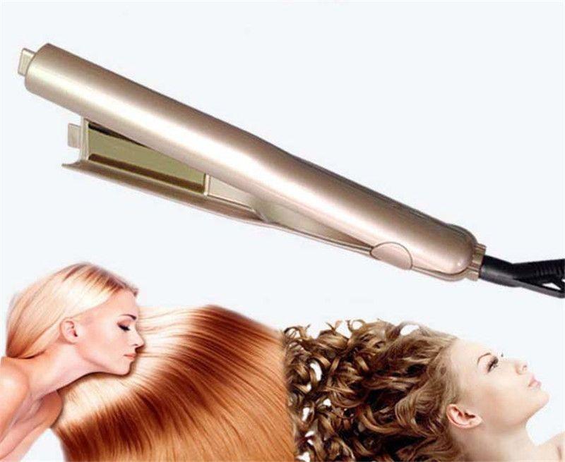 New Iron Gold Plated Titanium Plates Hair Straightener