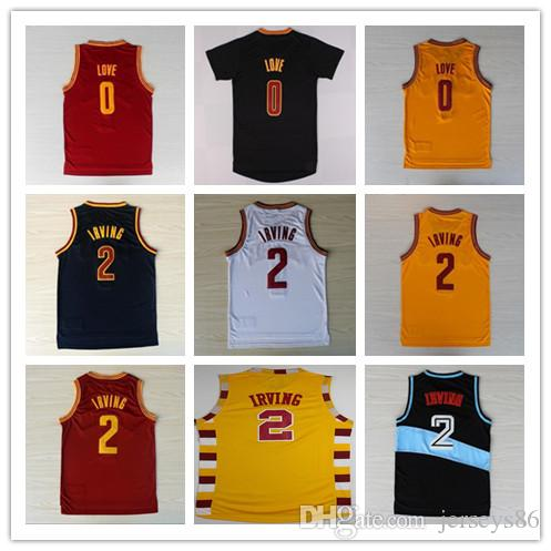 2 Kyrie Irving Jersey Basketball Nouveau Rev 30 Kevin Love 0 Chemises Uniforme T