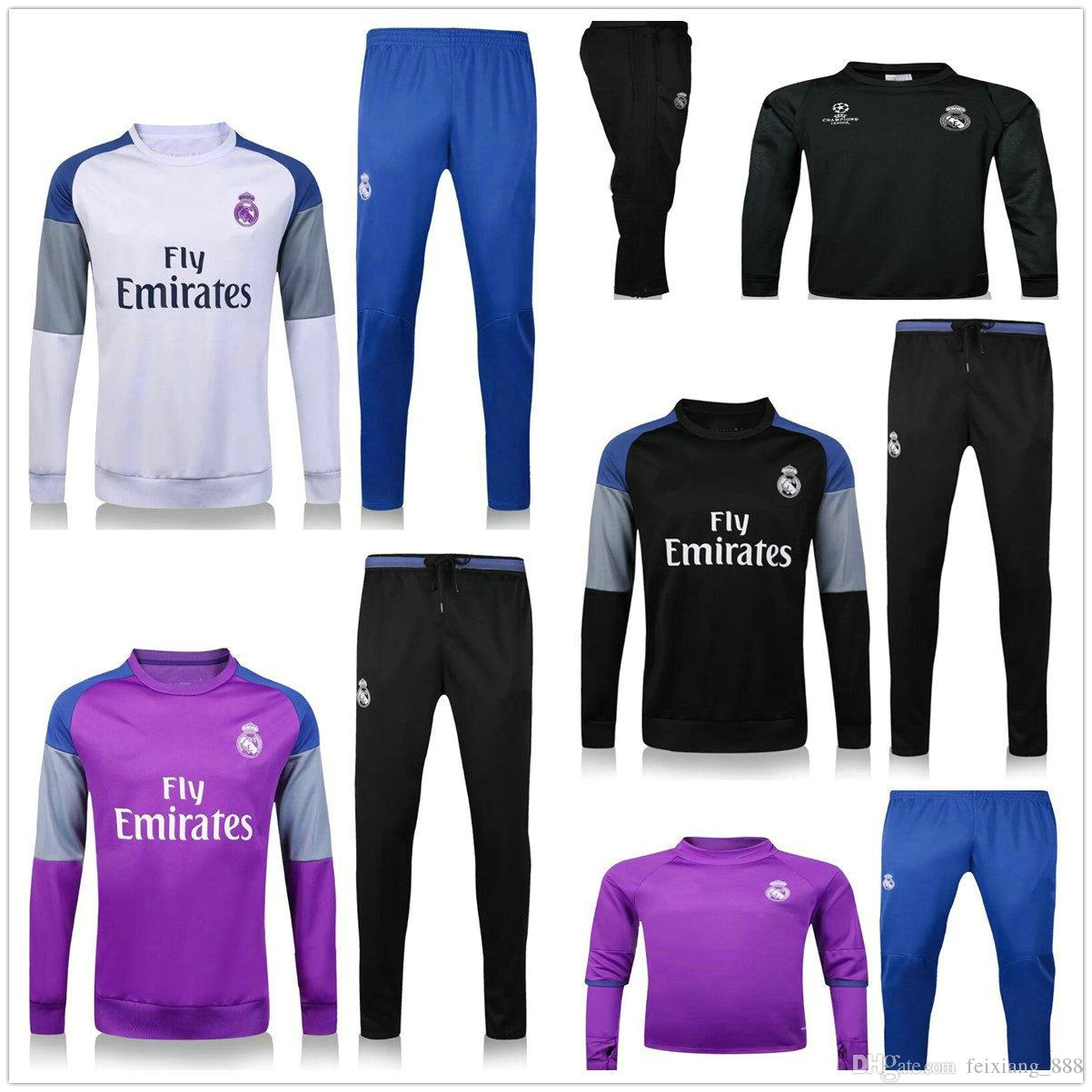 2017 2016 real madrid tracksuits 16 17 ronaldo james bale. Black Bedroom Furniture Sets. Home Design Ideas