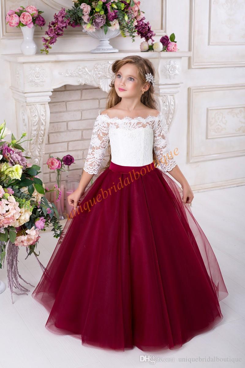 Feels and Flower girl dresses burgundy