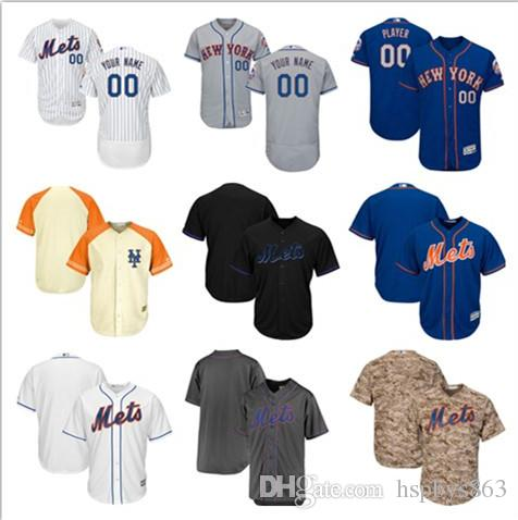 custom mens new york mets jerseys majestic white grey blue flex cool base specialty personalized cus