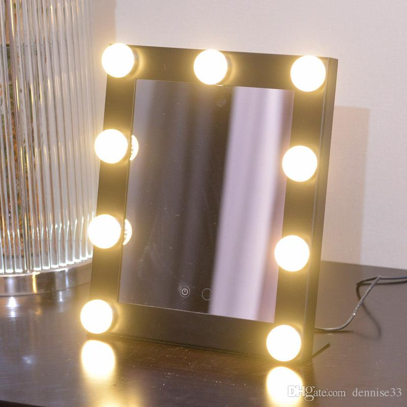 hot sale led bulb vanity lighted hollywood makeup mirror with dimmer stage beauty mirror led mirror with bulbs led makeup mirror with bulbs online with