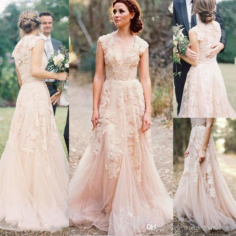 2017 vintage lace wedding dress anna campbell sexy boho for Robes de mariage anna campbell