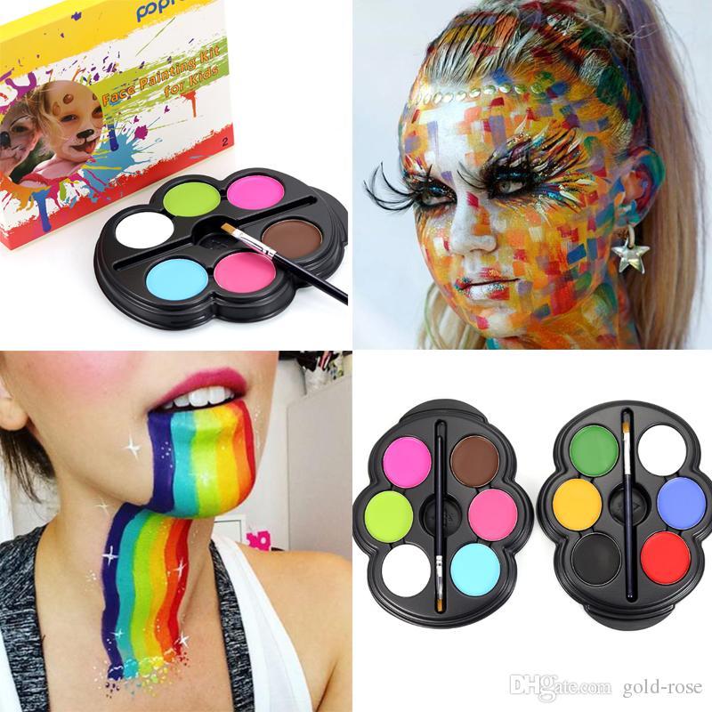 Popfeel Brand Rainbow Body Paint Color Neon UV Glowing Face ...