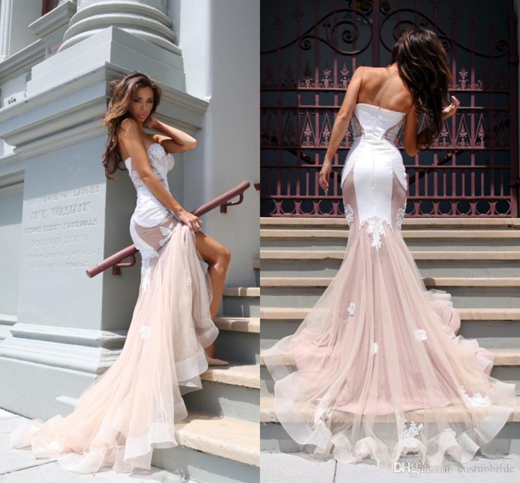New 2017 Country Mermaid Wedding Dresses Lace Sweetheart