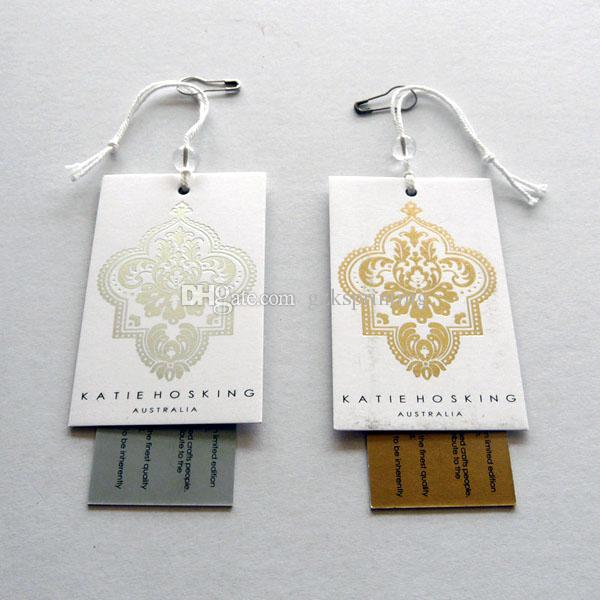 Custom Clothing Tags 2 Cards Hang Tags Printing High Quality Swing ...