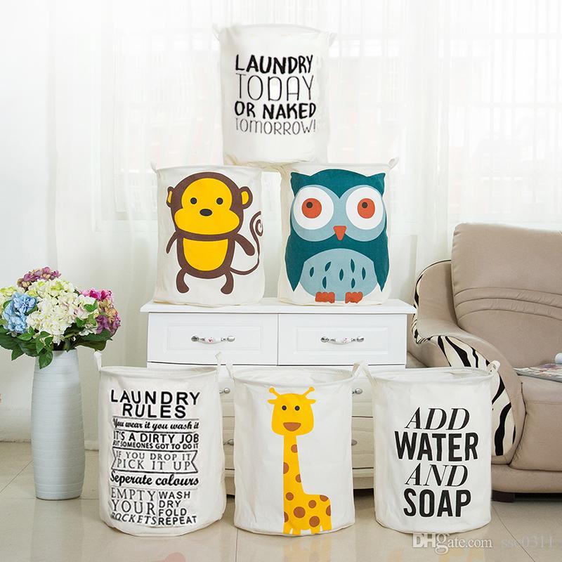 giraffe laundry hamper custom made creative cartoons and english basket monkeyowl