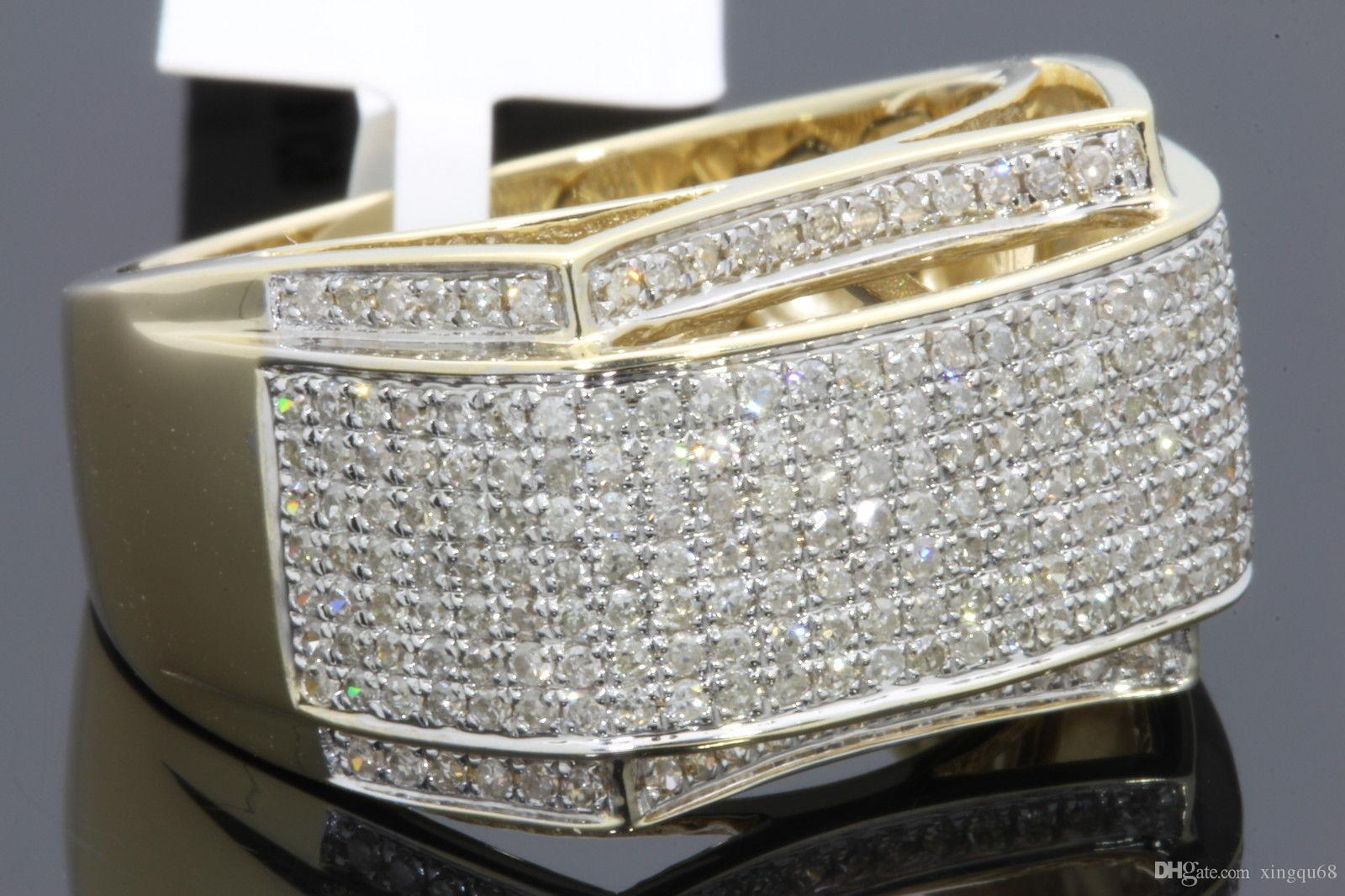 online cheap 10k yellow gold mens real diamond. Black Bedroom Furniture Sets. Home Design Ideas