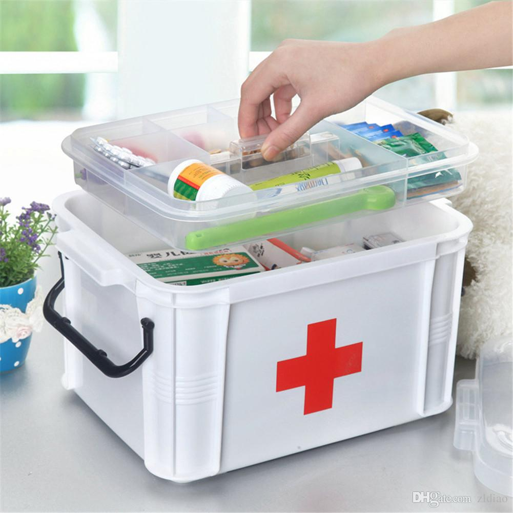 2017 Medicine Chest Storage Box First Aid Kit Drug Home