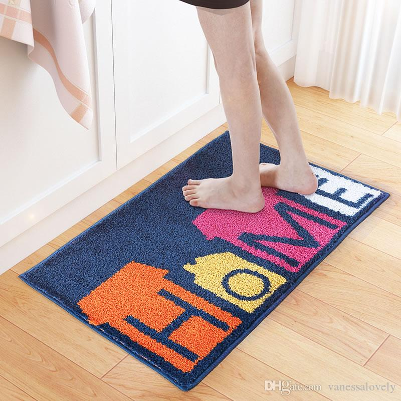 New 4565cm Royal Blue HOME Door Mats Bedroom Living Room Area Carpets Bathroom Non Slip Floor Rug Home Decor Carpet Rugs Online With