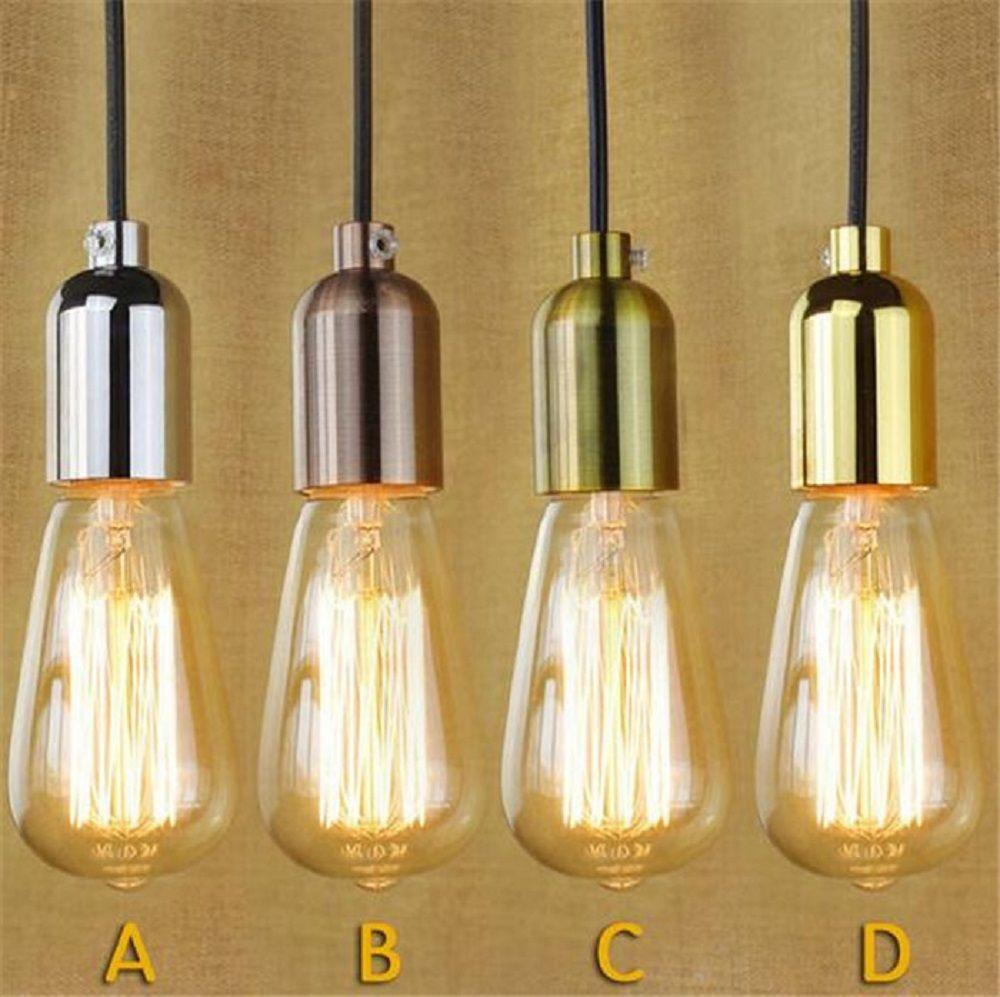 110v 220v Retro Edison Bulb Holder E27 Socket Antique