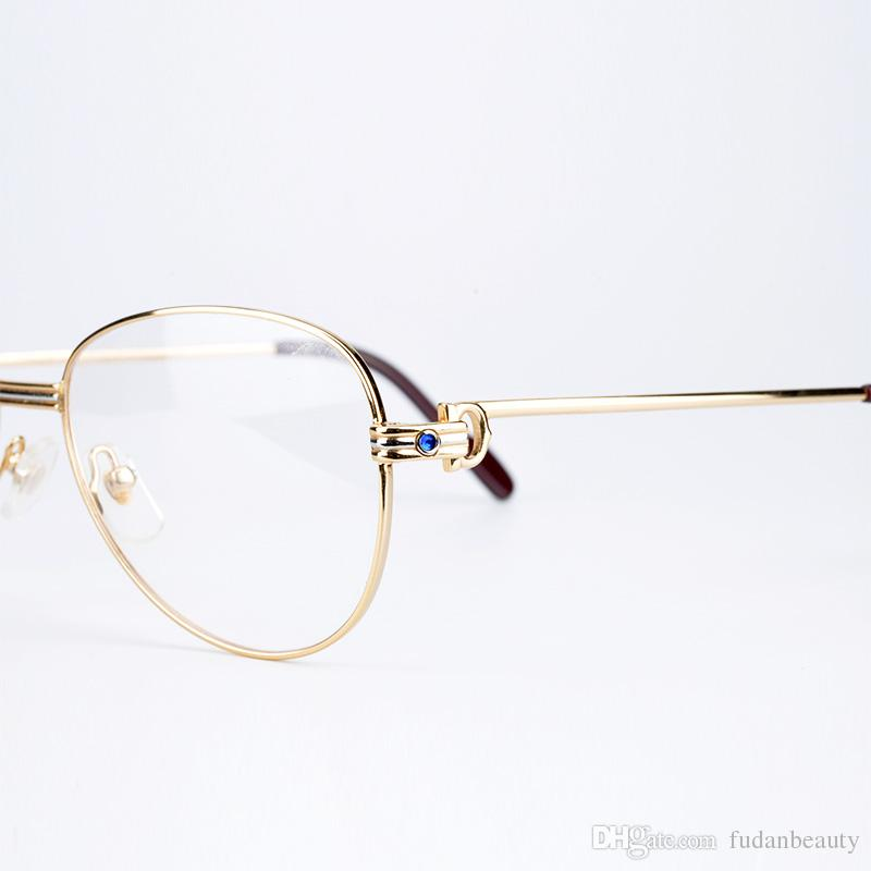 4922da09fa Metal Frame Optical Eyeglasses Brand Designer Prescription Glasses Classic  Men Large Frame .