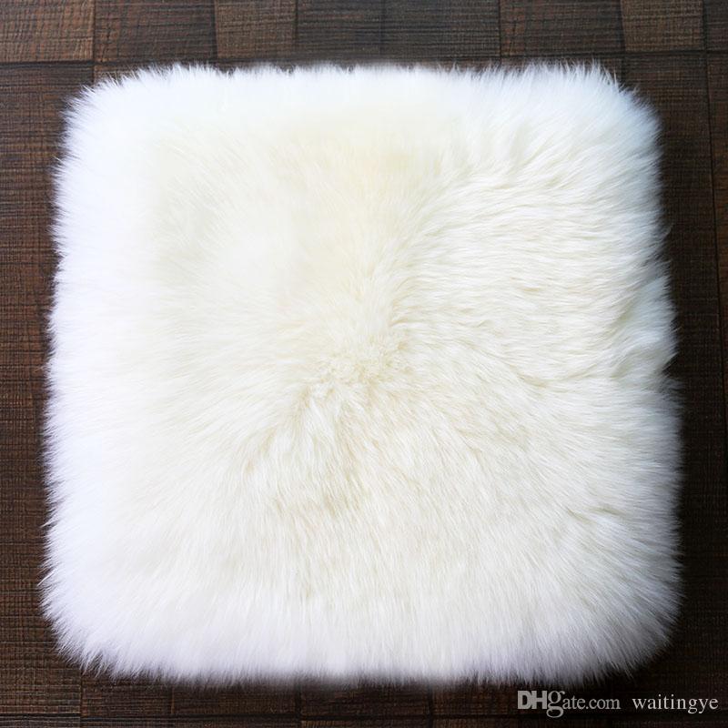wonderfur cn1030 long hair genuine sheepskin rug square sheep fur chair mat in living room bedroom officel chair fur cover sheepskin rug sofa seat cushion