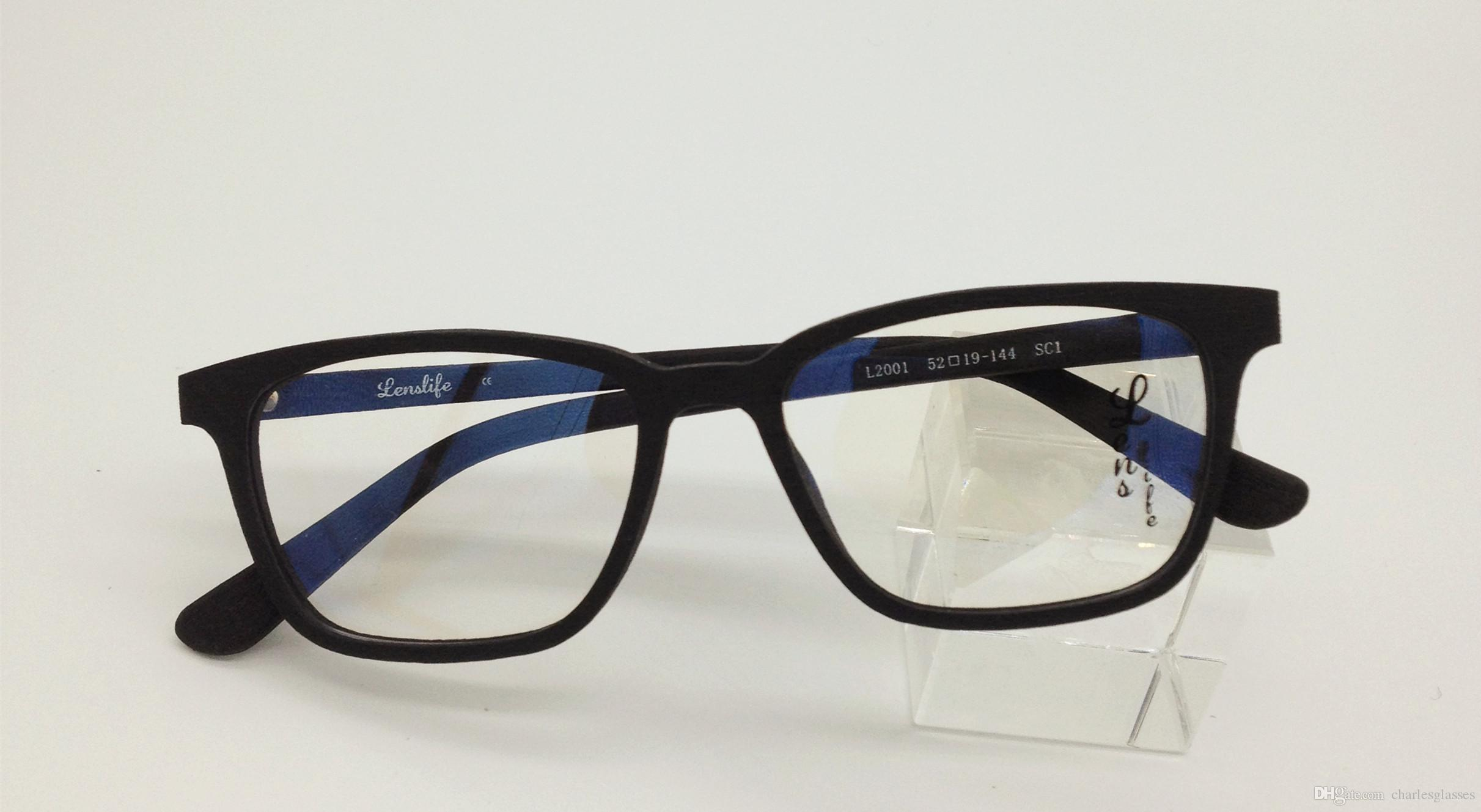 new fashion wooden like temple glasses frames vintage acetate optical frames for prescription 2001