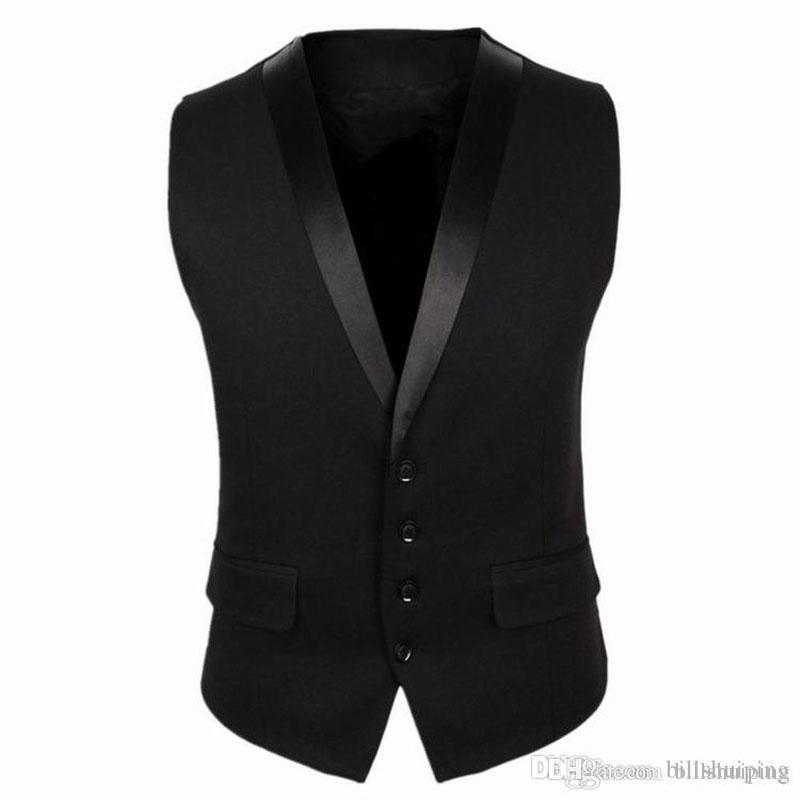 2017 New Vest For Men Autumn Korean Business Casual Slim Fit Mens ...